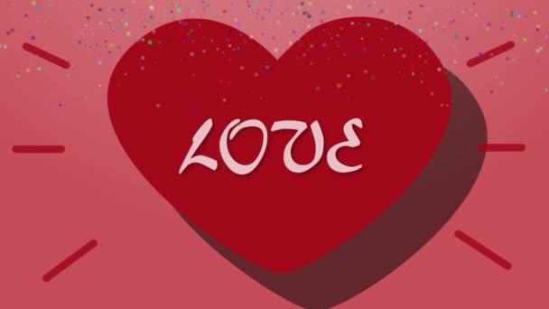 Animace srdce a lásku. Valentinky den pozadí