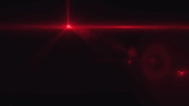 Efekty animace loga. Červená světlice s částice