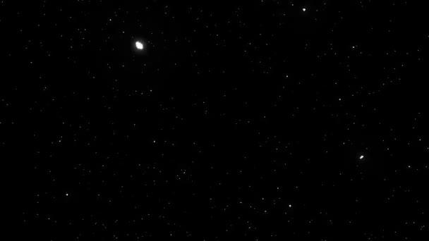Prostor a hvězdy animace na černém pozadí