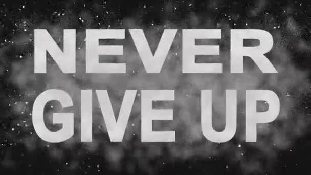 Nikdy se nevzdávej. Motivační animace textu. Šťávu Intro tituly