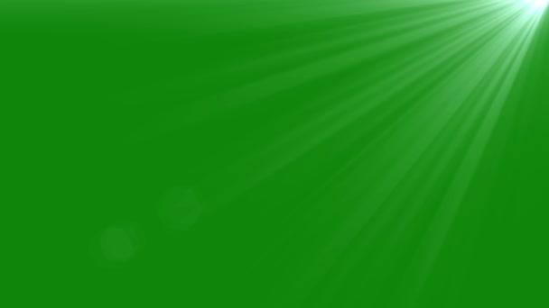Light Animation Effect for LOGO on Green Screen. Lens flare.