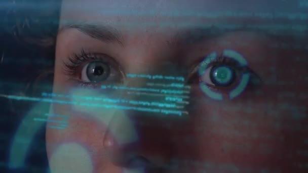 Práce na futuristické Hologramic rozhraní. Neinteligentním digitální Hud