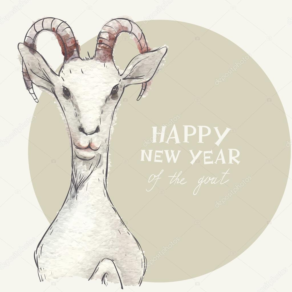 the goat a new year symbol of 2015 stock vector