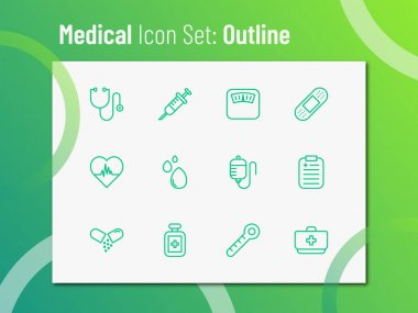 Medical icon set with outline style. Suitable for any purpose. icon