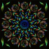 Világos háttér kép olajjal fest. Színes mozaik. Virágmintás dísz. Olajfesték. Minta virágok, festett olaj festékek. Virág Mintamélység dísz, mozaik. Tökéletes fekete mintával