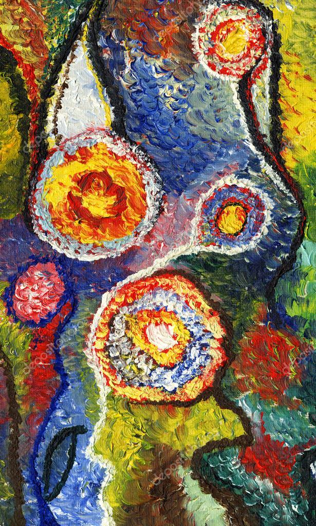 Dibujos Oleo Sobre Lienzo El Cuadro Está Pintado En óleo Sobre