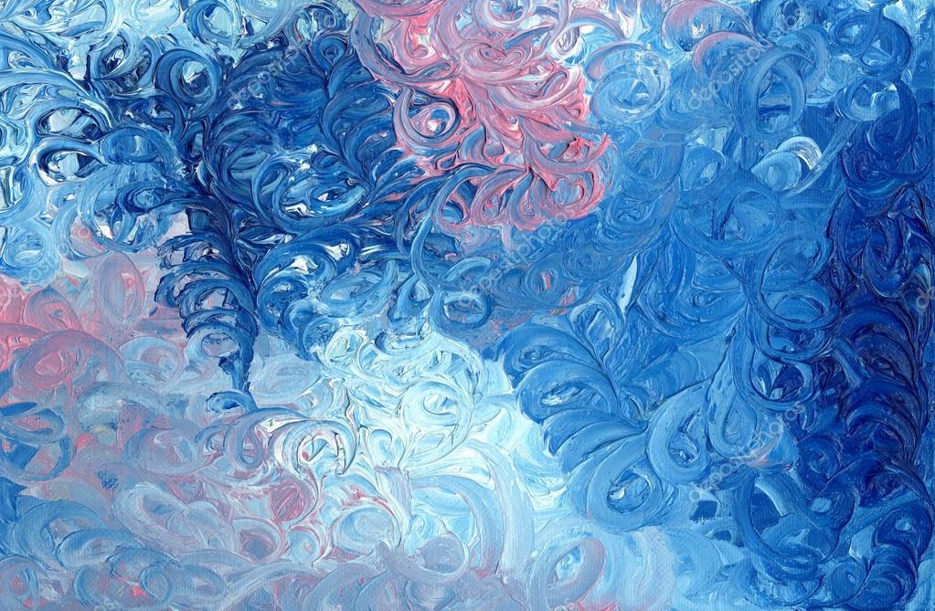Il quadro è dipinto a olio su tela. disegno astratto. sbavature di