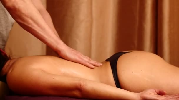 Man Making Sensual Massage For Woman Time Lapse Stock Video