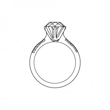 Continuous one line drawing (hand drawn) wedding ring. Perfect for greeting cards, party invitations, posters, stickers. Valentines day concept. icon