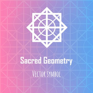 Vector abstract geometric symbol. Modern sacred geometry theme