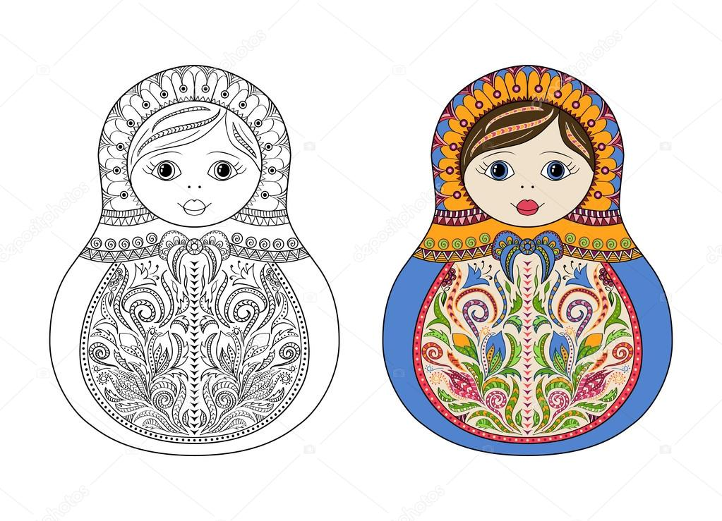 stock illustration vector coloring book for adult