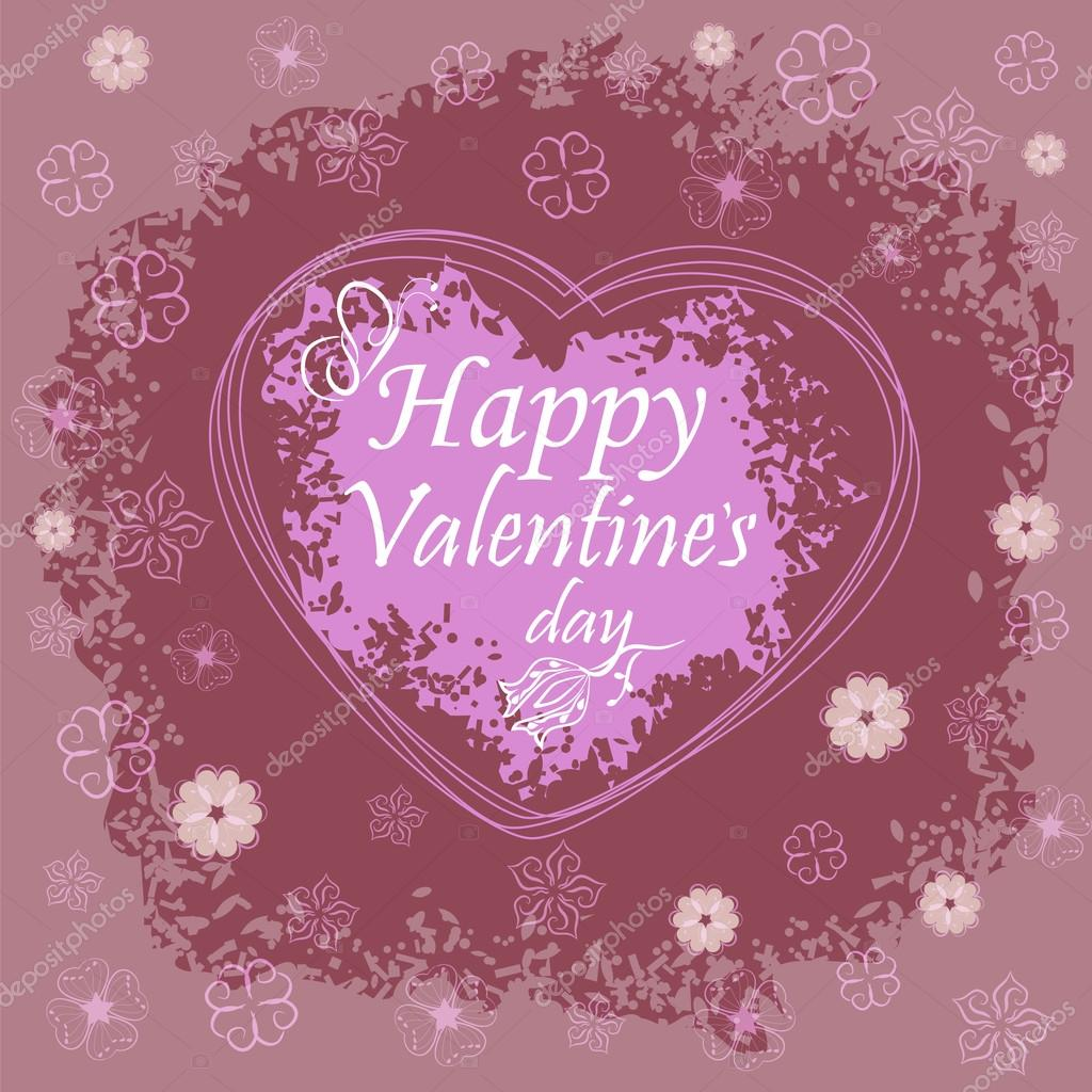happy valentines day greeting card design stock vector 62225649