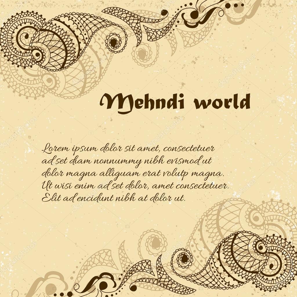 De fundo vector em estilo indiano ornamental ornamento de cachemira de fundo vector em estilo indiano ornamental ornamento de cachemira mehndi vetor de stock stopboris Images