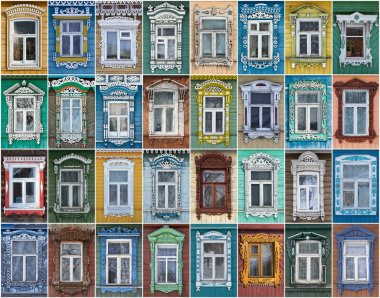 Russia. The windows of the city Suzdal.