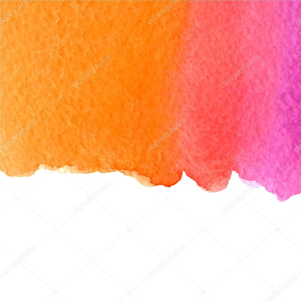Acquerello Sfondo Sfumato Rosa E Arancio Con Spazio Bianco Della