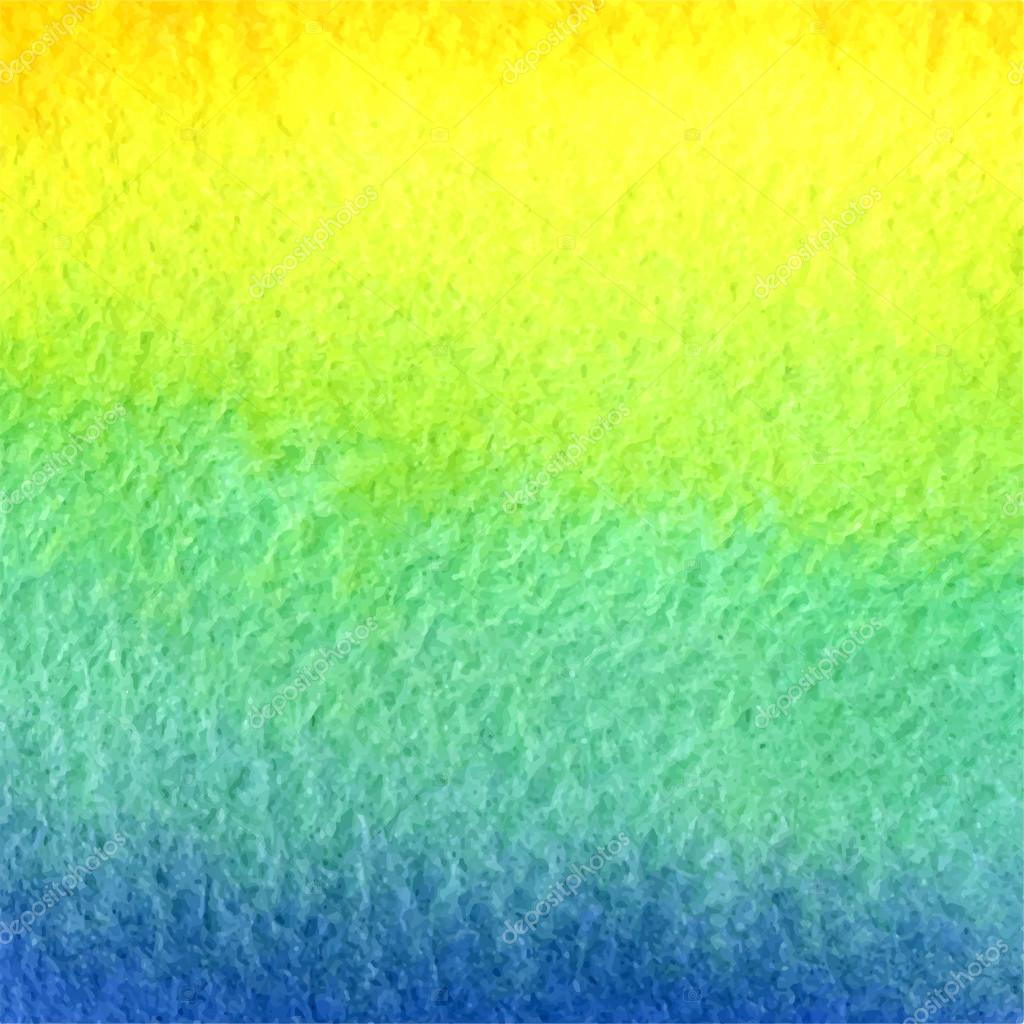 Acquerello Sfondo Sfumato Di Blu Azzurro Verde Giallo