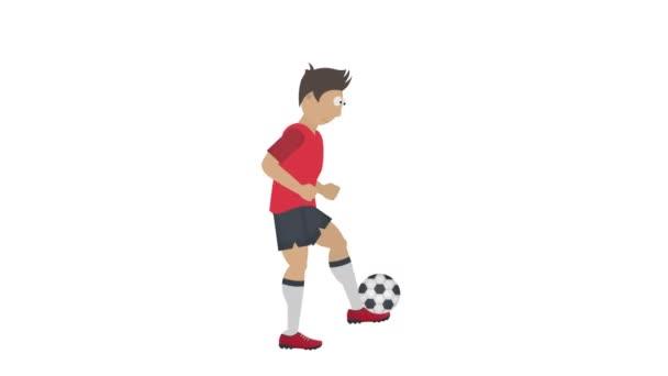 Fotbalista. Fotbalista s míčem, animovaný kreslený film