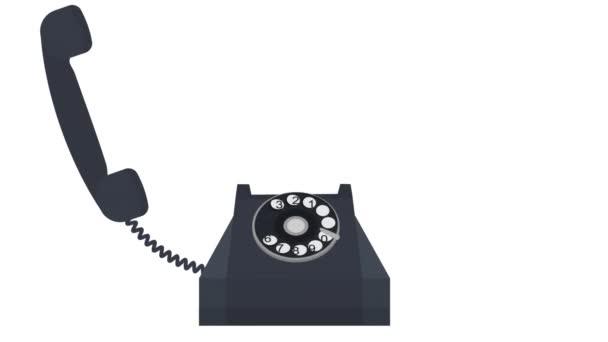 Telefonát. Animace konverzace po telefonu. Karikatura