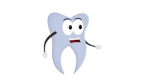 Tooth cartoon character, animated cartoon.