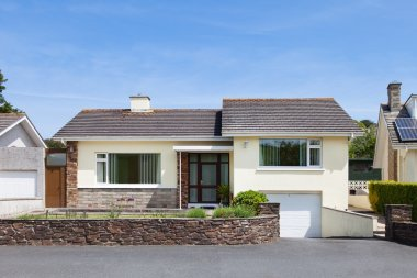 Bungalow house with garage