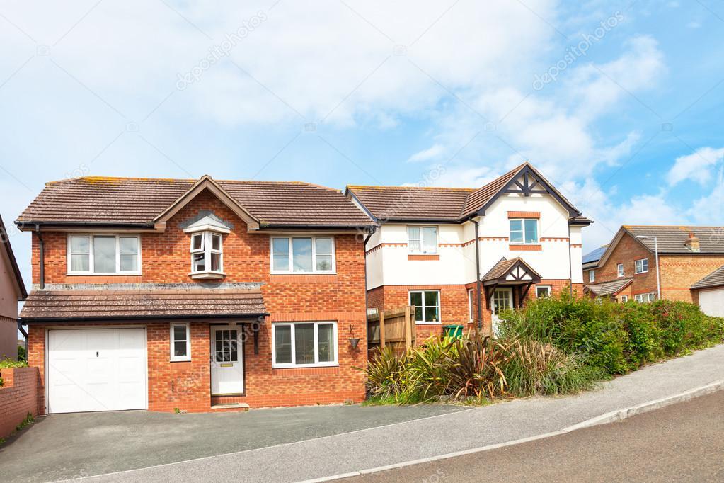 Traditional English Houses Stock Photo