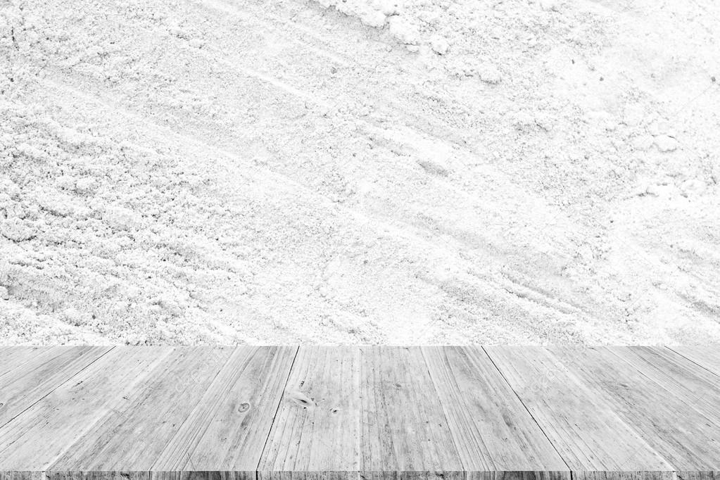 Surface De Texture Sable Avec Terrasse Bois U2014 Photo