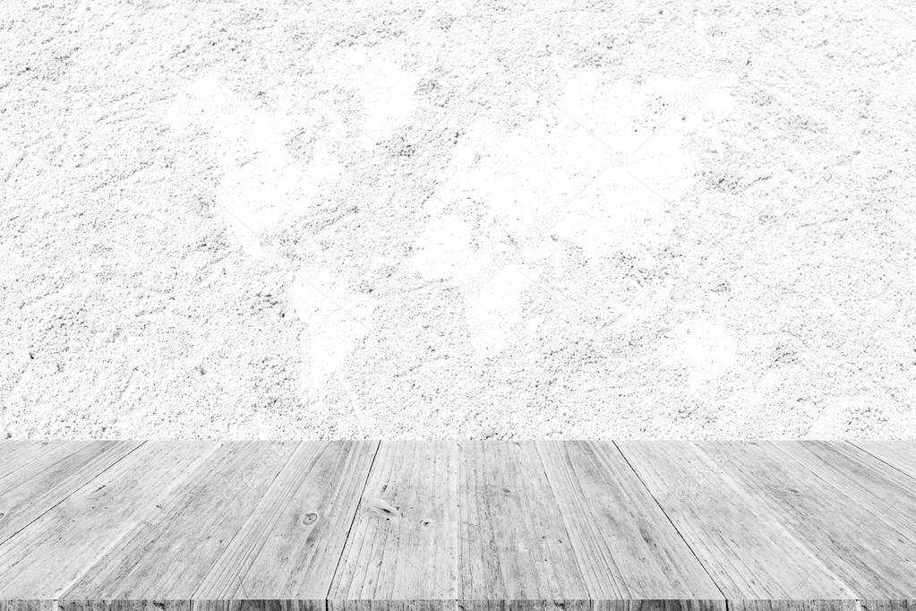 Charming Sand Texture Surface With Wood Terrace And World Map U2014 Stock Photo