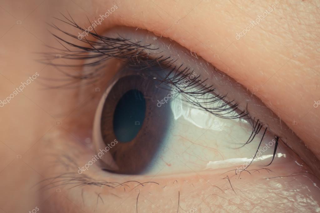 Makro Der Augenfarbe Schwarz Stockfoto C Pongmoji 112026850