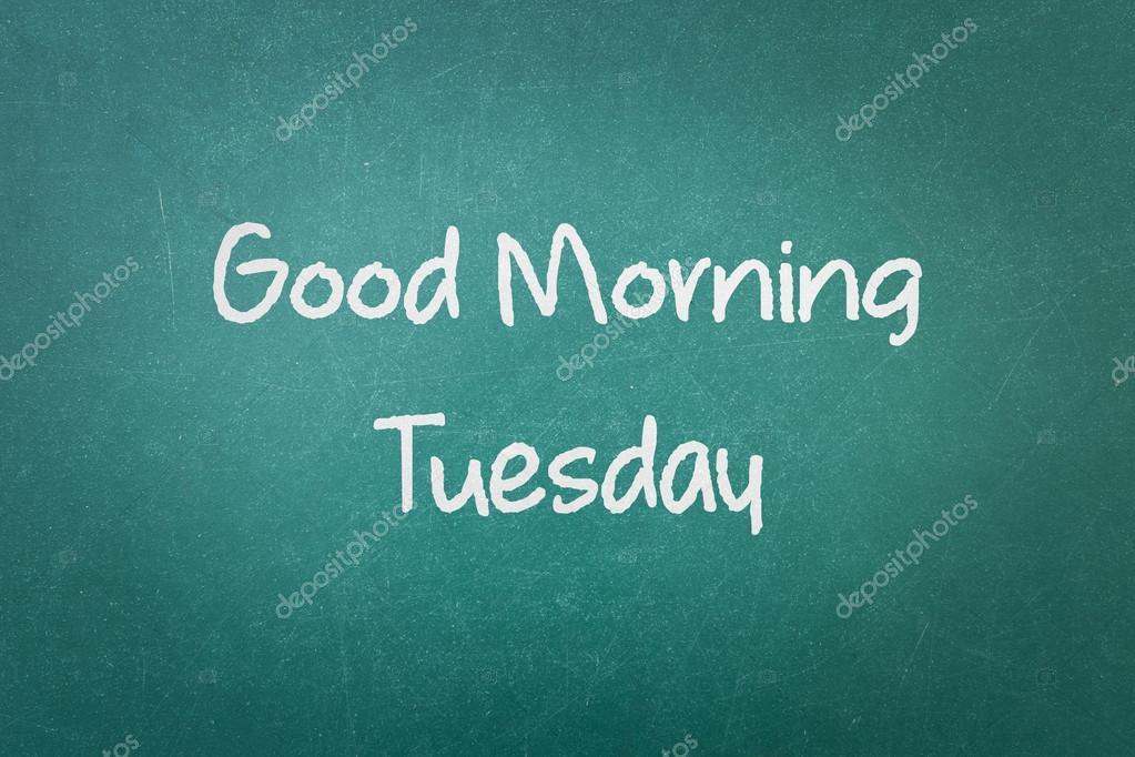 Grüne Tafel Wand Textur Mit Einem Wort Guten Morgen Dienstag