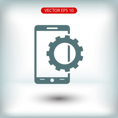 Setting parameters, mobile smartphone icon