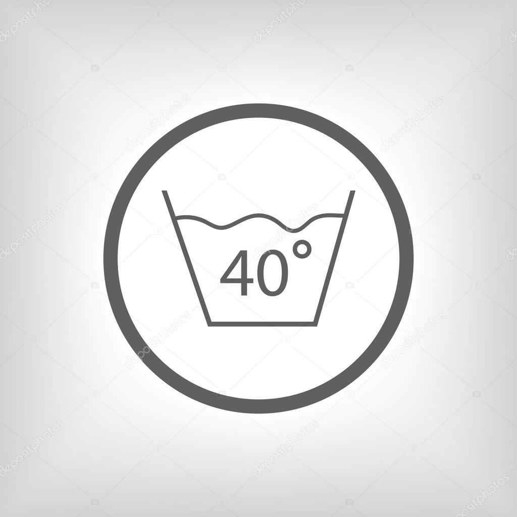 Température Machine À Laver 40 water temperature washingmachine or hands — stock