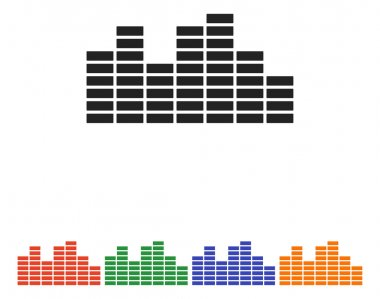 Soundwave music icon, vector illustration stock vector