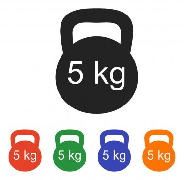 Weight icon set