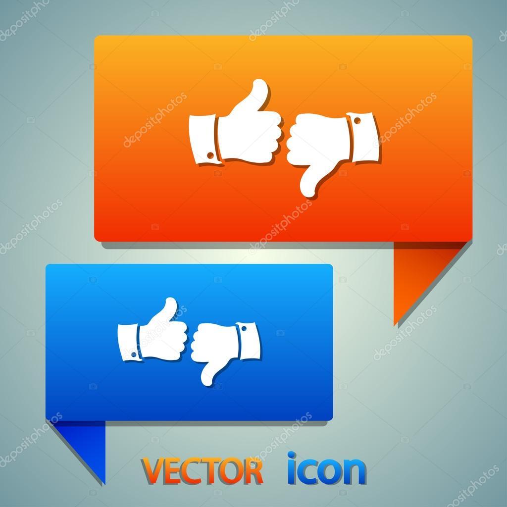 Like icon. Flat design style