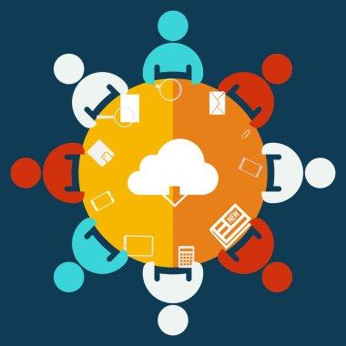 Cloud computing download icon