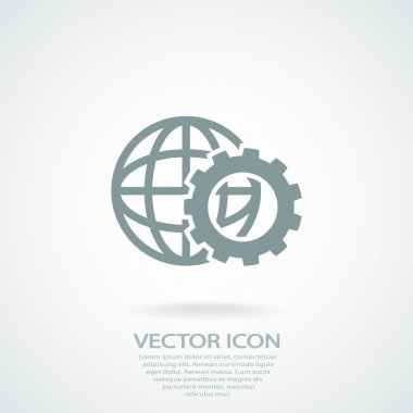 Setting parameters, globe Icon