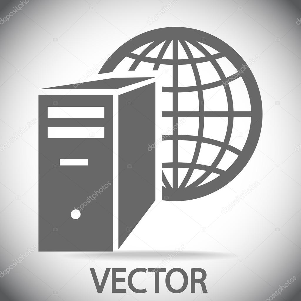 Computer server icon — Stock Vector © Best3d #57406593