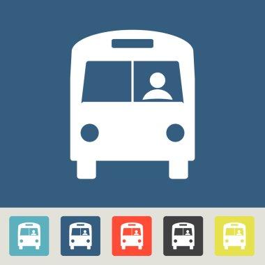 "Картина, постер, плакат, фотообои ""дизайн значка автобуса "", артикул 57417279"