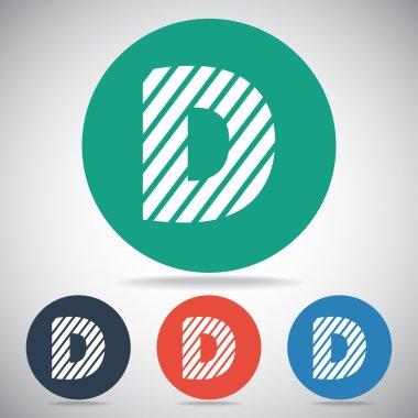 Zebra alphabet letter D