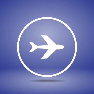 Airplane symbols icon, vector illustration. Flat design style stock vector