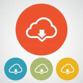 Fotografie Cloud computing download icon