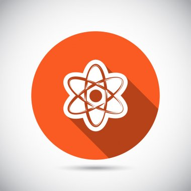 Abstract physics science model icon
