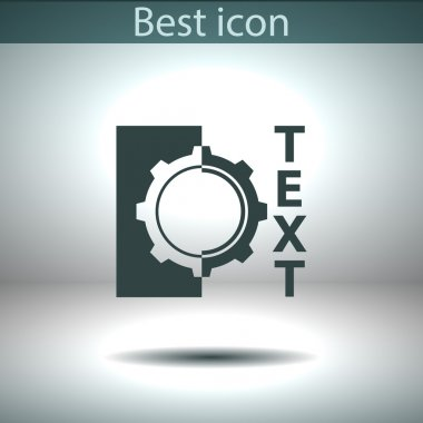 Gear icon. Flat design style