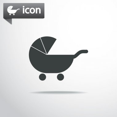 Baby Carriage Silhouette icon