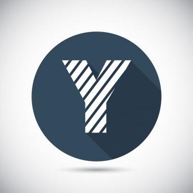 Zebra alphabet letter Y