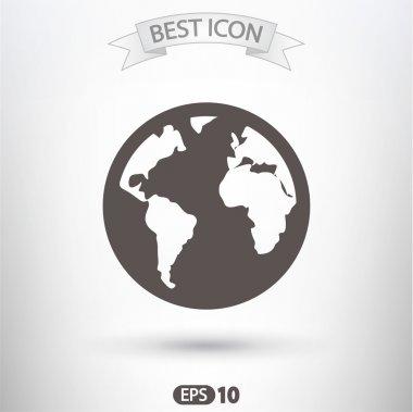 Globe Icon Flat  design