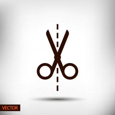 Scissors flat icon