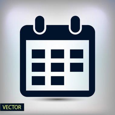 Calendar icon Flat design style