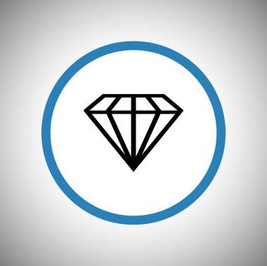 Diamond flat icon