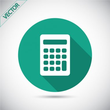 Calculator icon Flat design